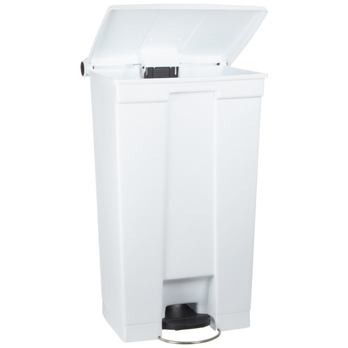 Rubbermaid Commercial 8 Gallon Indoor Utility Step-On Waste Container, White