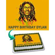 Bob Marley - Edible Cake Topper - 11.7 x 17.5 Inches 1/2 Sheet rectangular