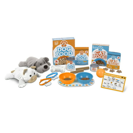 Doug Plush Chihuahua - Melissa & Doug Feed & Play Pet Treats Play Set With 2 Plush Stuffed Animals (26 pcs)