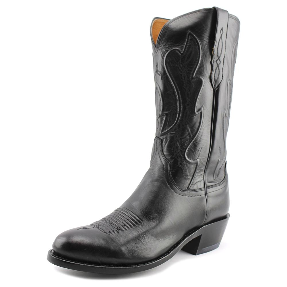 Lucchese Ranch Hand Men 2E Round Toe Leather Black Wester...