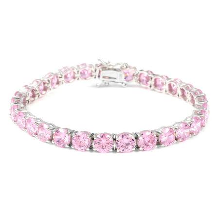 Tennis Bracelet Silver Round Cubic Zircon Gift Jewelry .5