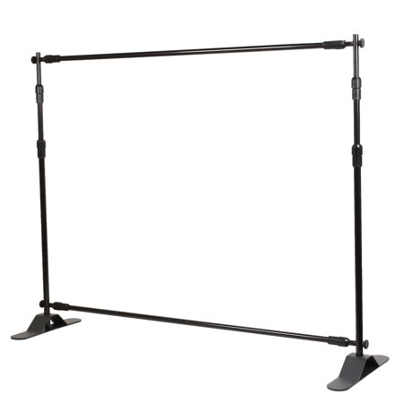 Backdrop Stand - Telescopic Banner Stand 10'x8' Step and Repeat Adjustable Photographic Back Ground Expanding Display for Party Trade Show Exhibitions Wall Exhibitor with Carrying (Back Banner Stand)