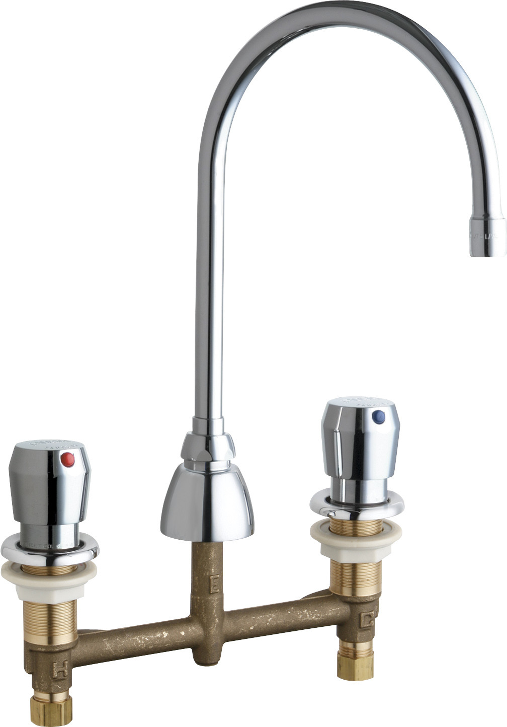 Chicago Faucets 786-E3-665AB Chrome Commercial Grade High Arch Kitchen  Faucet - Walmart.com