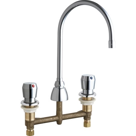 Chicago Faucets 786 E3 665ab Commercial Grade High Arch Kitchen Faucet With Knob Handles