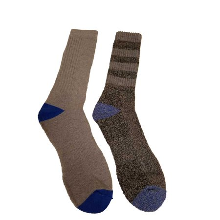 Climatesmart Men 2pck Performance Outdoor Wool-Blend Crew Socks Asphalt/Blu