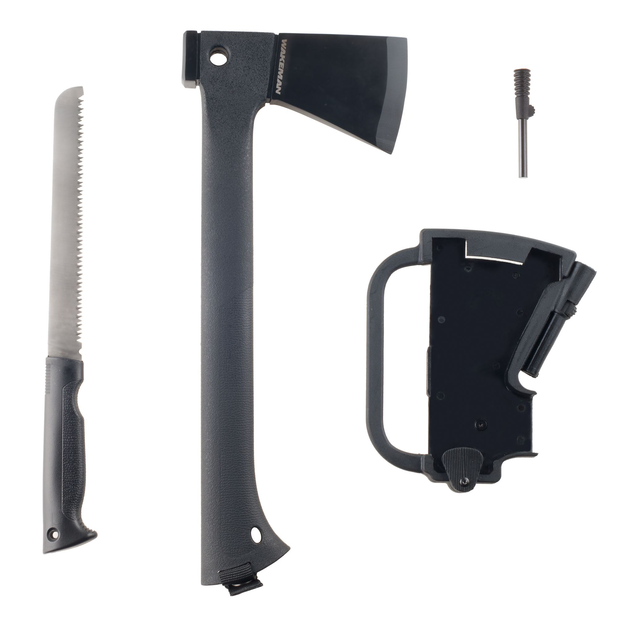 Multi-Function Camping Axe with Saw & Firestarter by Wakeman by Trademark Global LLC