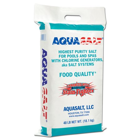 Aquasalt Swimming Pool And Spa Chlorine Generator Salt 40 Pounds