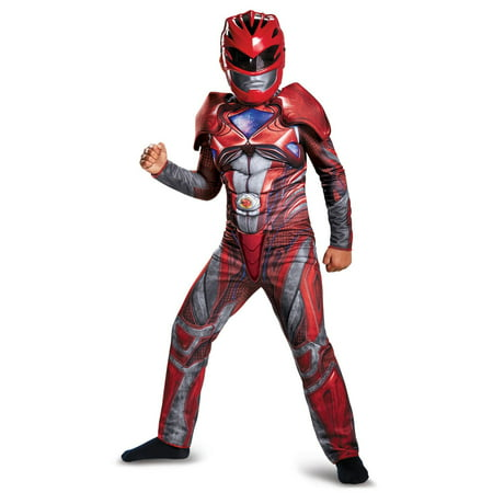 Power Rangers: Red Ranger Classic Muscle Child Costume - Red Head Guy Halloween Costume