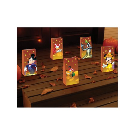 Disney Mickey Mouse And Friends Halloween Luminaries Bag Decorations - Halloween Snack Bag Ideas