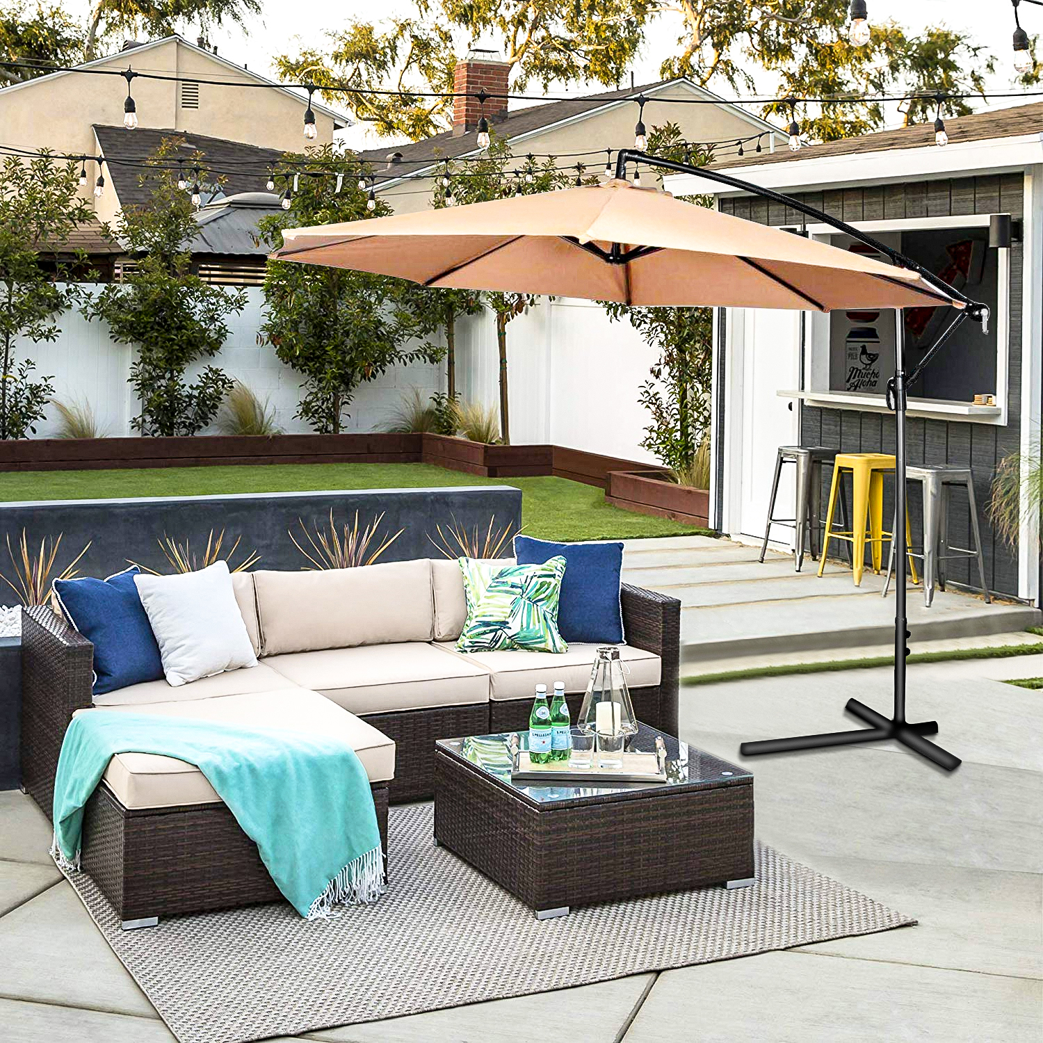 Oakville 5-Piece Made in USA Outdoor Cushions Patio ...