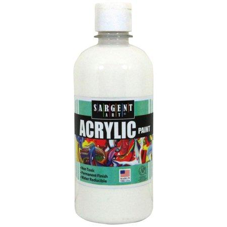 16OZ ACRYLIC PAINT - WHITE - White Acrylic Paint