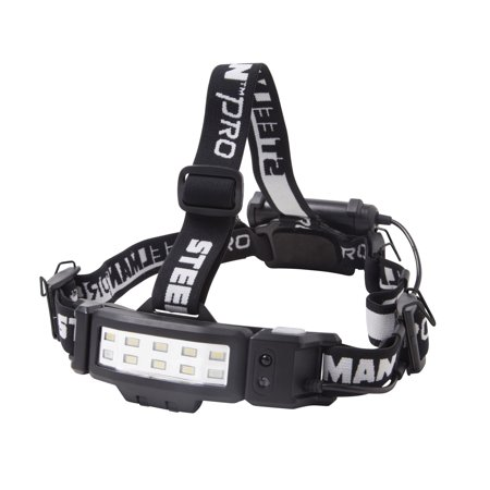 STEELMAN PRO 79417 Slim Profile Dual Mode LED Headlamp with Hands-Free (Dual Sport Headlight)
