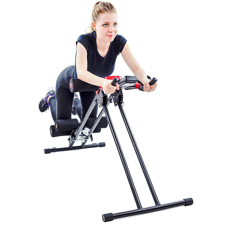 Zimtown Ab Crunch Machine,5 Minute Shaper, Adjustable Abdominal   Tummy Exercise Equipment, Ab Core Cruncher   Glider... by
