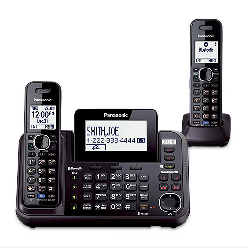 Panasonic KX-TG9542B Cordless Phone Answering System Bluetooth Interface w  Caller ID Call Waiting DECT 6.0,... by Panasonic