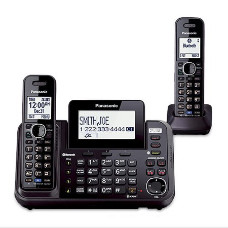 Panasonic KX-TG9542B Cordless Phone Answering System Bluetooth Interface w  Caller ID Call Waiting DECT 6.0,... by