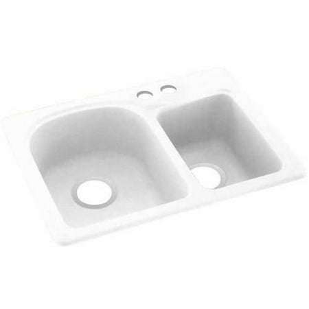 Swan Solid Surface EC Double Bowl Kitchen Sink (18\