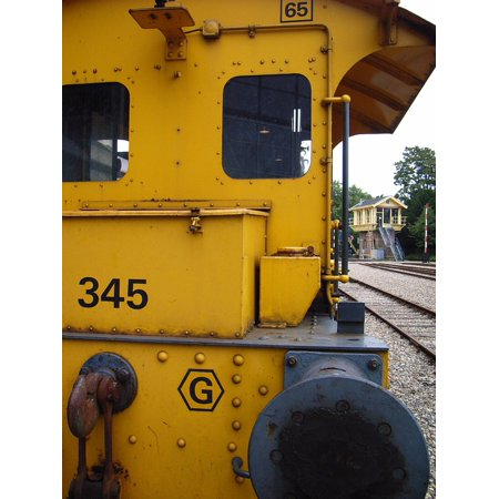 Laminated Poster Loc Train Yellow Locomotive Poster Print 11 x (Customized Locs)