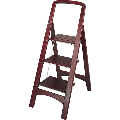 Cosco Three Step Rockford Wood Step Stool Walmart Com