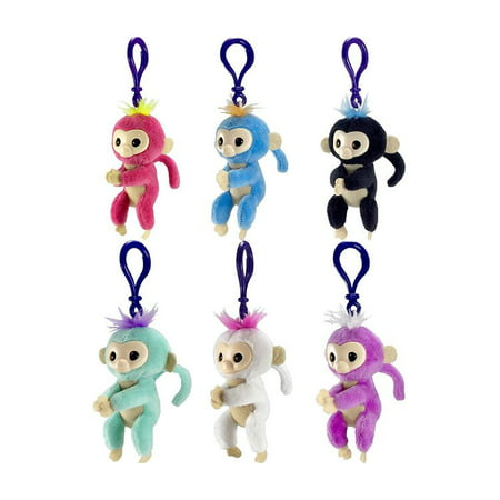 WowWee WowWee Fingerlings Monkey Plush Clip On - Colors May Vary Novelty Character Fashion Accessories (One Keychain)