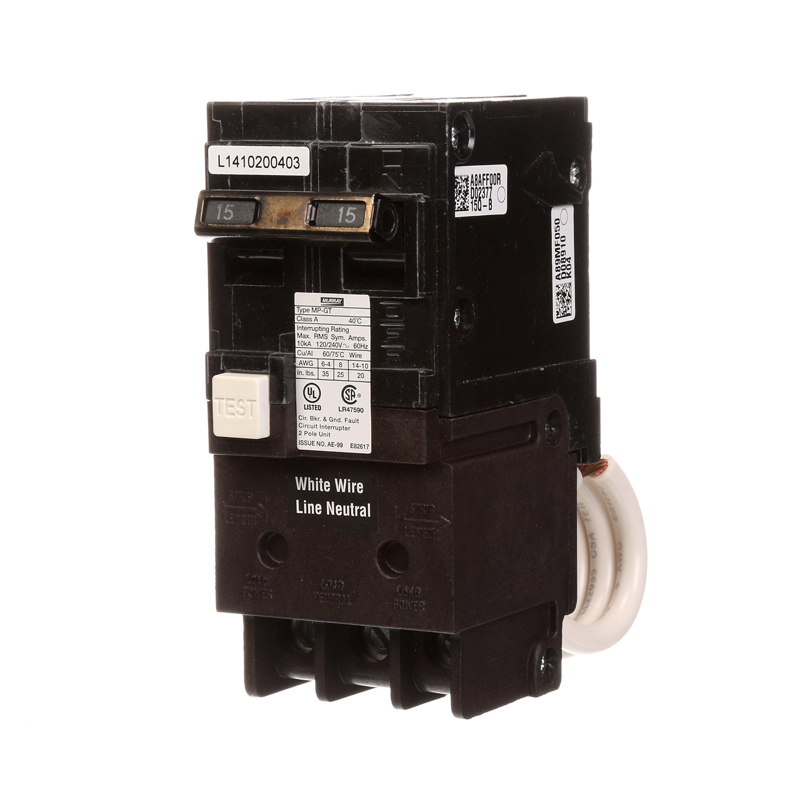 Siemens MP215GFA Low Voltage Residential GFCI Circuit Breaker 2-Pole 15 Amp 120/240 Volt