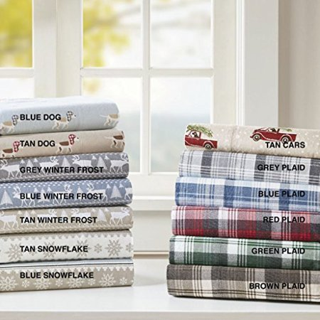 Flannel Sheet Set Tasha Grey Queen Walmart Canada