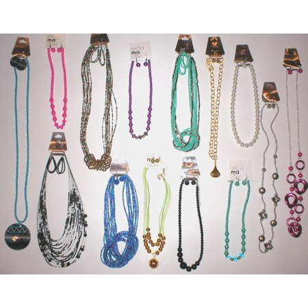 WHOLESALE LOT 20 SETS RANDOM ASSORTMENT (Pic is representative) COSTUME FASHION JEWELRY NECKLACE - Costume Jewelry