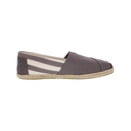 d43bb7b1f9c Toms Women's Classic Striped Canvas Black Stripe University Ankle-High Flat  Shoe - 6M ...