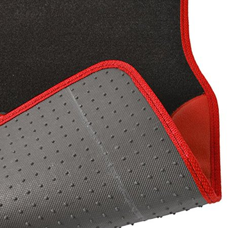 A Set Of 4 Universal Fit Plush Carpet With Vinyl Trim Floor Mats For Cars   Trucks  Tan