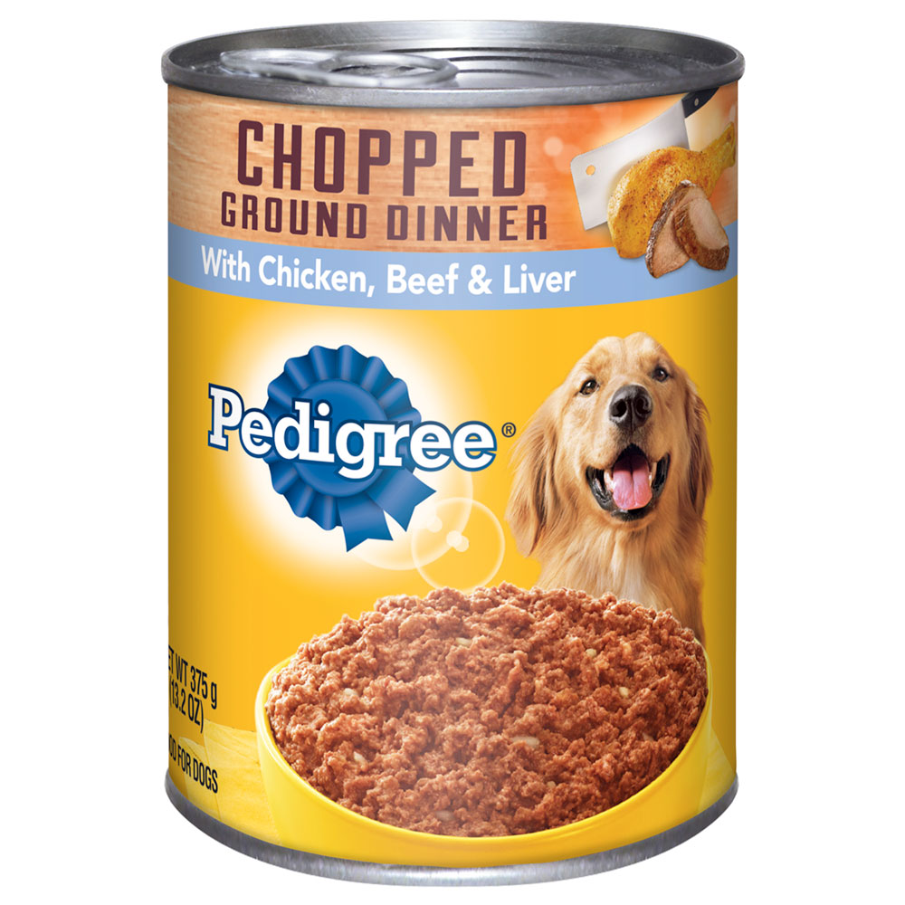 PEDIGREE Chopped Ground Dinner With Chicken, Beef and Liver Canned Dog Food 13.2 Ounces
