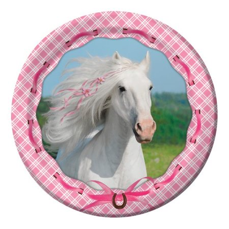 Party Creations Heart My Horse Lunch Plate, 7