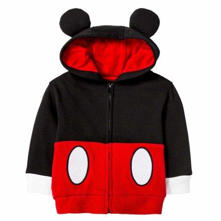 3feb037eb Disney - Disney Infant & Toddler Boys Red Mickey Mouse Hoodie Sweatshirt  Jacket - Walmart.com