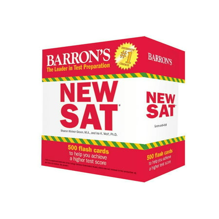 Kết quả hình ảnh cho Barron's New SAT Flash Cards: 500 Flash Cards to Help You Achieve a Higher Score