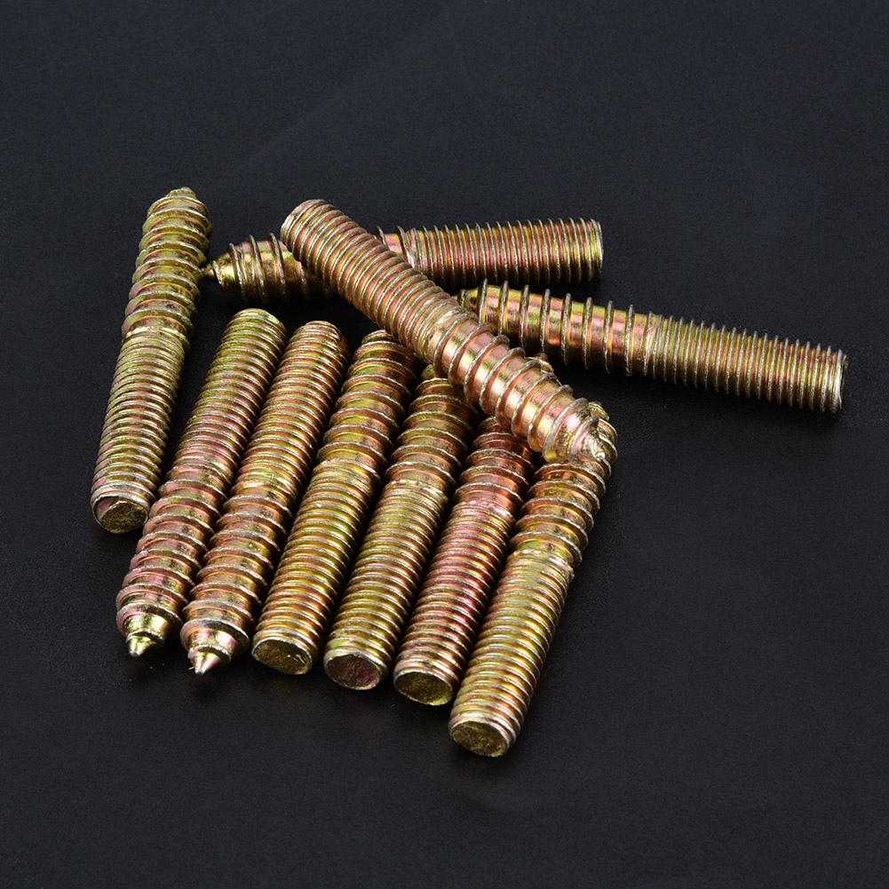 Wood Screw Woodworking Dowel Screw 10 Pcs High Performance Durable for Furniture Connector Making Joints Between Two of Wood