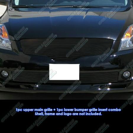 Nissan Altima Polished Billet Grille - Fits 2007-2009 Nissan Altima Sedan Black Billet Grille Grill Combo Insert