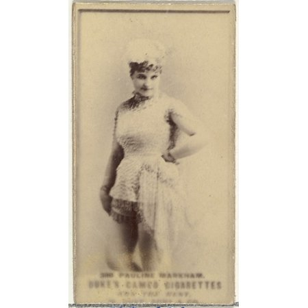 Card Number 388 Pauline Markham from the Actors and Actresses series (N145-5) issued by Duke Sons & Co to promote Cameo Cigarettes Poster Print (18 x 24)