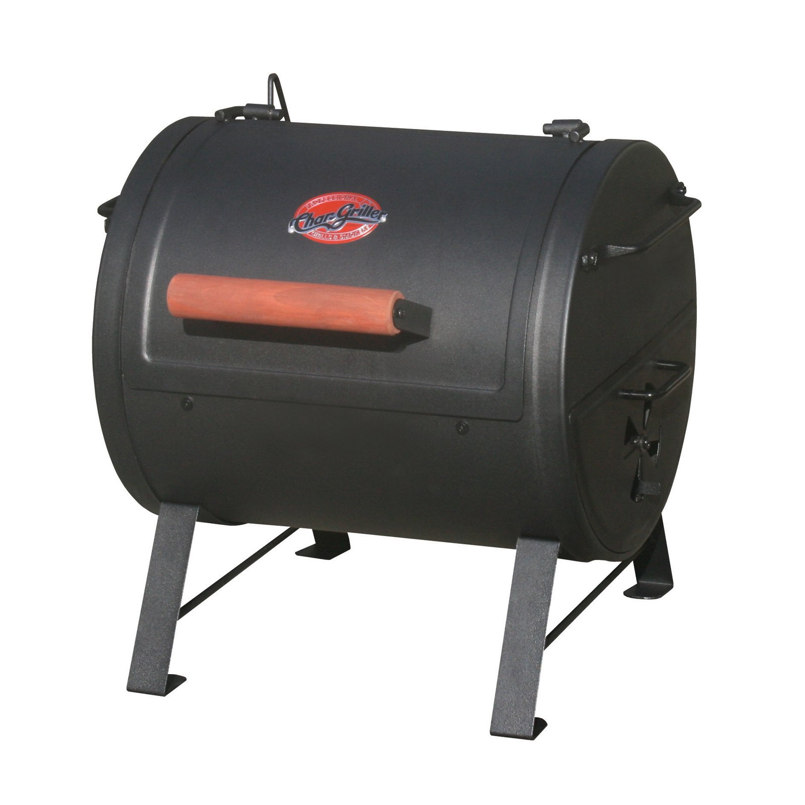 Char Griller 250 Sq Inch Table Top Charcoal Grill And Smoker Black