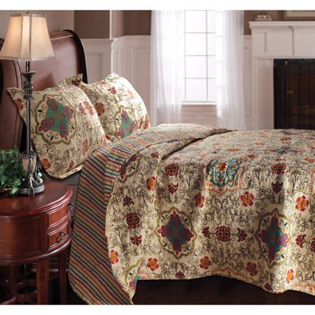 Global Trends Chelsea Reversible Quilt Set Walmart Com