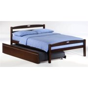 Sesame Full Bed in Chocolate w Trundle