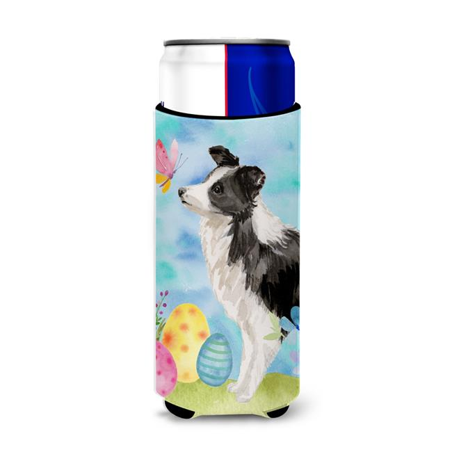 Carolines Treasures BB9618MUK Border Collie Easter Michelob Ultra Hugger for Slim Cans - image 1 of 1