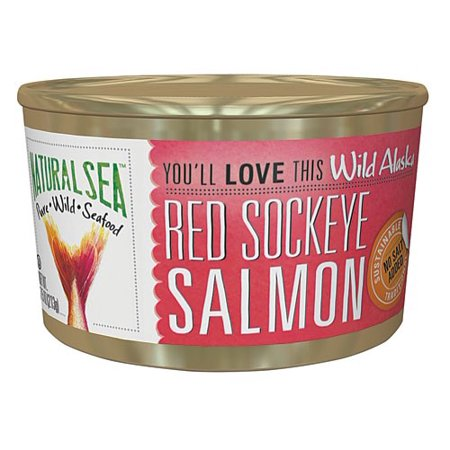 Natural Sea Canned Wild Alaska Red Sockeye Salmon, No Salt Added, 7.5 Oz