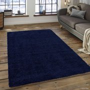 Allstar Modern Contemporary Denim High Pile Posh And Gy Solid Area Rug 7 9
