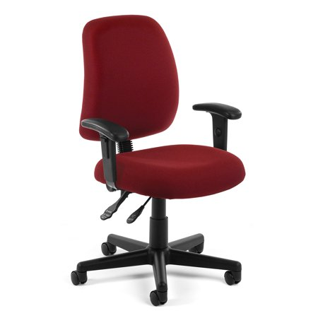 Office furniture WINE Model 118-2-AA Posture Series Fabric Swivel Task Chair with Arms 250 Lbs Weight capacity 20 Bottle Wine Furniture