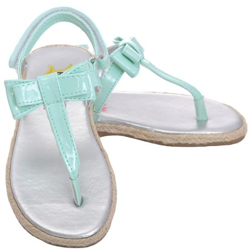 Rachel Toddler Girl 10 Mint Patent Bow T-strap Galaxy Sandal