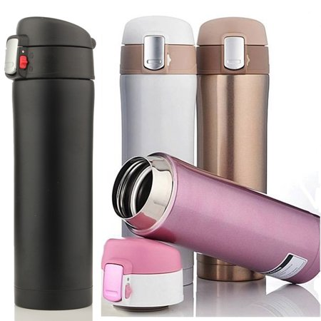 Thermos Nissan Leak Proof Travel Mug (500ML/18Oz Hot Stainless Steel Vacuum-Insulated thermos leak-proof Insulated Container Coffee Tea Water Beverage Bottle Flasks Travel Mug 4 Color,Portable)
