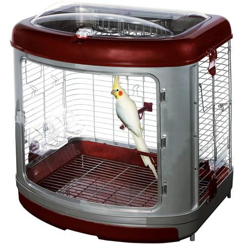 Super Pet HD Avain Enrichment Home w/Activity Center - Cockatiel