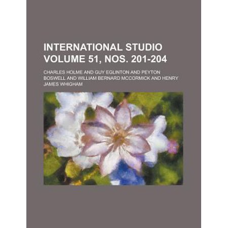 International Studio Volume 51, Nos. 201-204