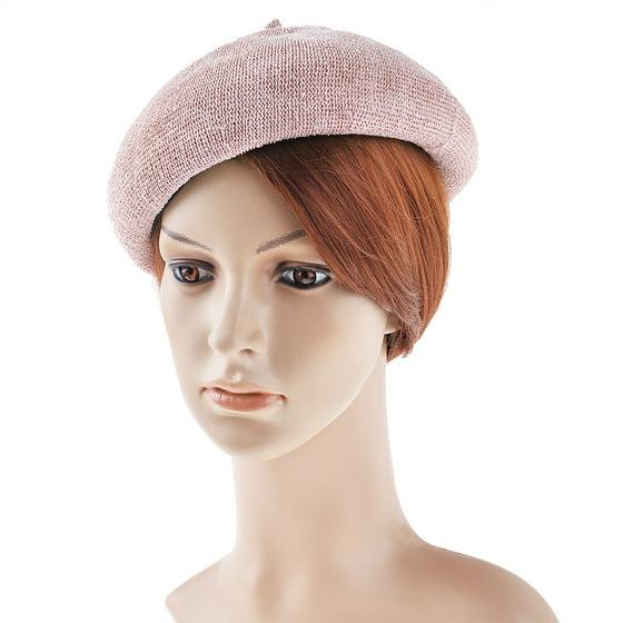 a6685f1b9f605 Vbiger - VBIGER Vintage Beret Winter Beret Hat Woolen Beanie Cap Classic  French Beret Hat for Women - Walmart.com