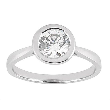 2.51 Ct Round Diamond - Harry Chad HC13055-6 2.51 CT Bezel Setting Round Diamond Solitaire Ring - Color H - SI1 Clarity