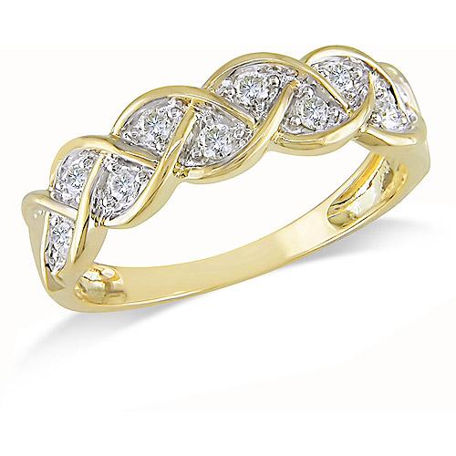 1/4 Carat T.W. Diamond Braid Ring in 10kt Yellow Gold
