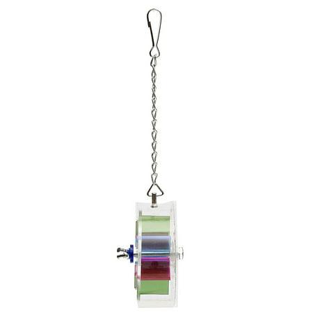 Marsin Wheel-shaped Pet Bird Toys Parrot Canary Hanging Foraging Entertainment Toys - image 3 de 6